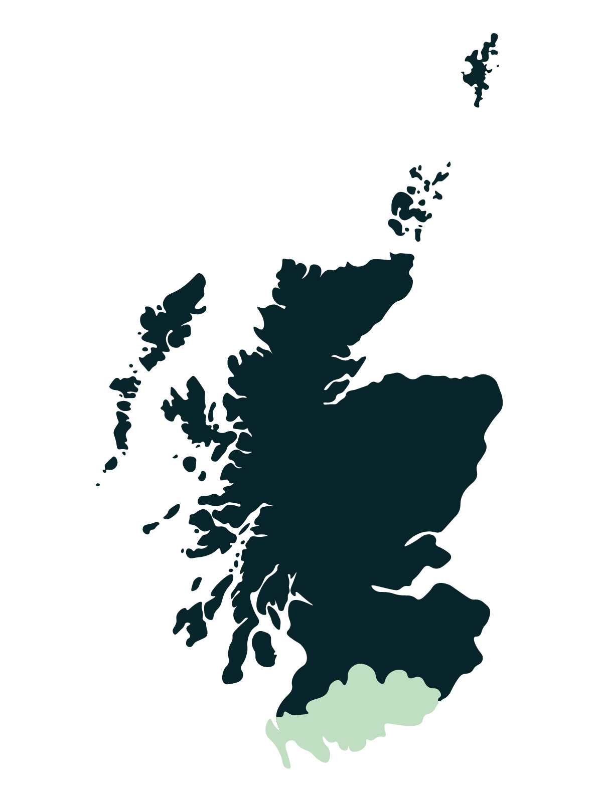 Dumfries & Galloway map