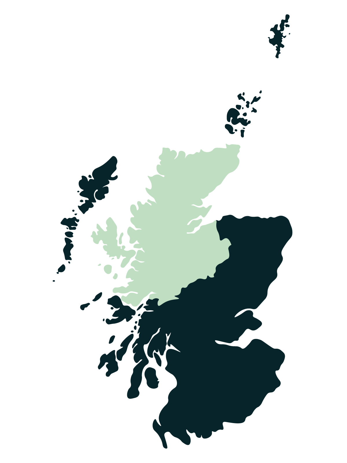 Scottish Highlands map